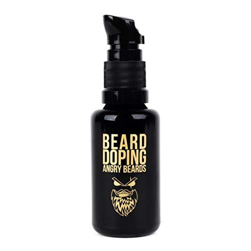 慎重防水白いBeard Doping for Growth by Angry Beards 30ml Made in Czech Republic / 成長のためのひげドーピング怒っているひげ30mlチェコ共和国製