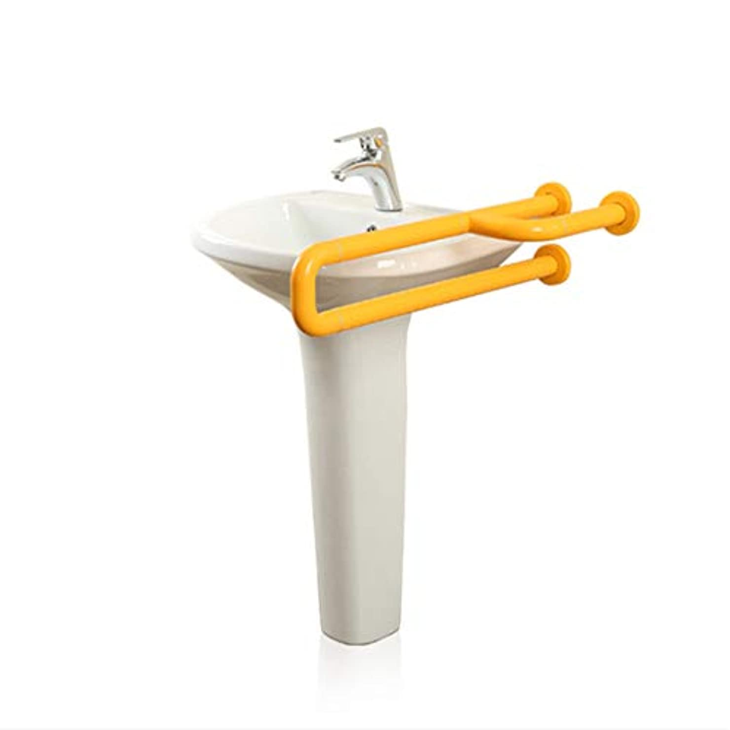 セットアップキャンドル拒絶する三叉のブラケットの U 字型の洗面所のフレームの柵は家およびホテルの環境保護 (ステンレス鋼上塗を施してあるナイロン) のためのサポート棒を扱う
