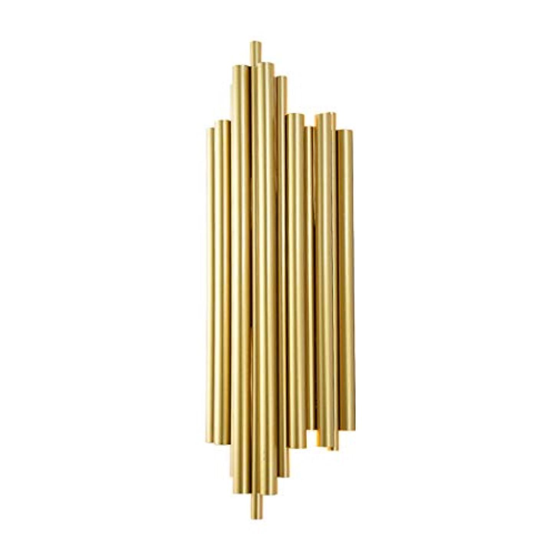 改善女王計器LEDクリエイティブモダンウォールランプバルコニー廊下通路ライトゴールデン錬鉄製壁面ライトリビングルームのベッドルームベッドサイドランプ、E27、(17cm * 50cm)