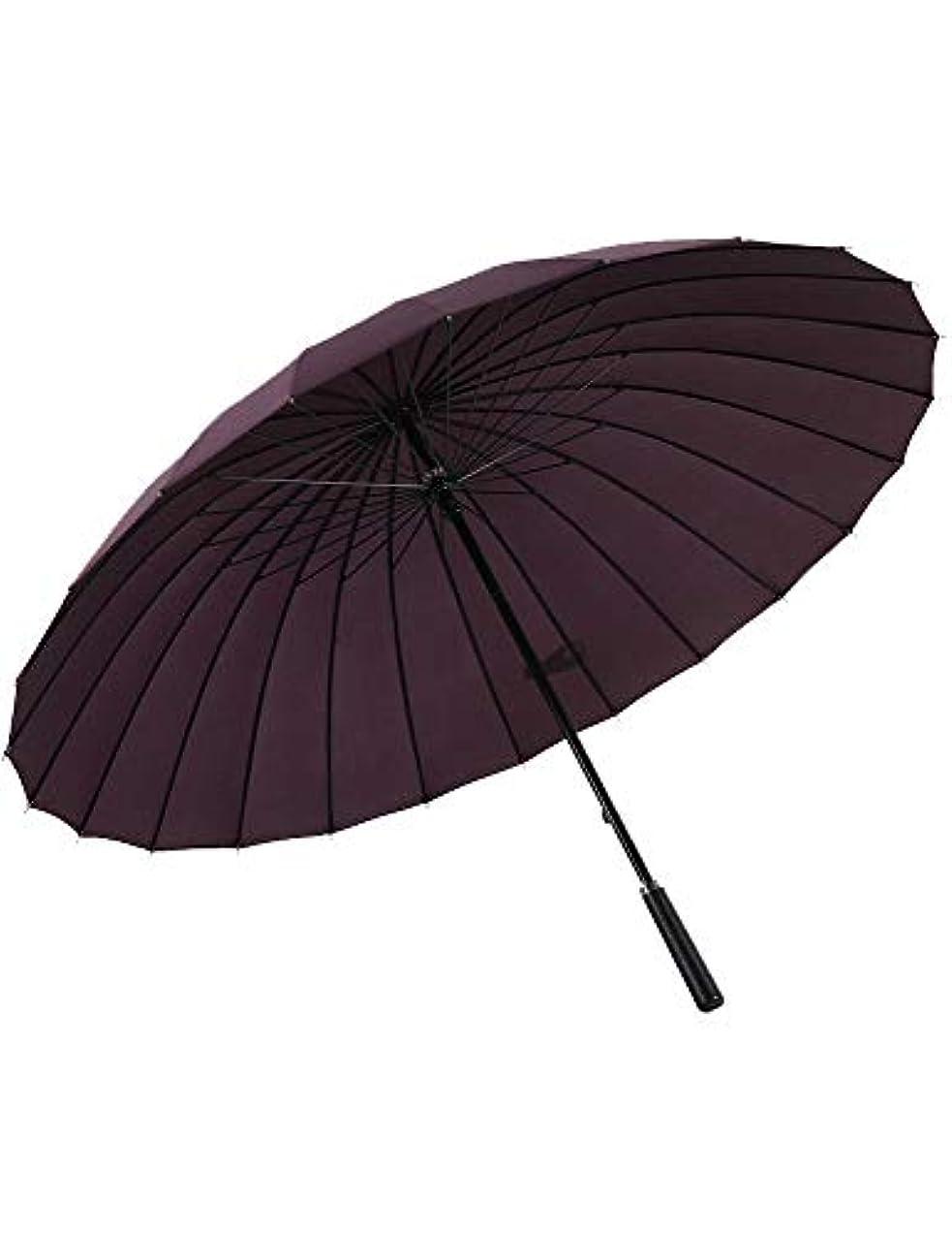 キリスト教吐く視線傘、24骨大ビジネス傘広告傘傘日焼け止めクリエイティブ傘自動折りたたみ傘 (Color : Purple)