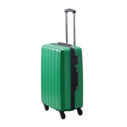 TSAロック搭載 超軽量ファスナータイプ スーツケース グレートギアライトキャリー/L (グリーン)