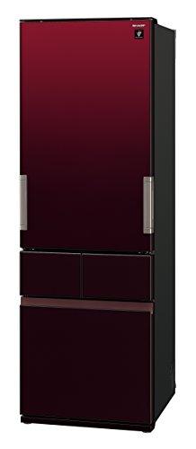 シャープ 冷蔵庫 スリムメガフリーザー プラズマクラスター搭載 415Lタイプ グラデーションレッド SJ-GT42C-R