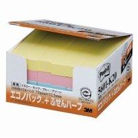 3M ポスト・イット エコノパック ふせんハーフ 再生紙 75×12.5mm 混色 1パック(24冊