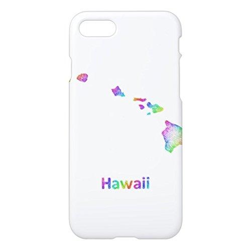 虹のハワイの地図iPhone7ケース デザイン バック カバー ケース 簡単装着 衝撃吸収 アイフォン7 4.7 インチ おしゃれ