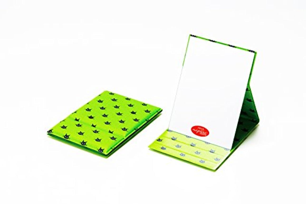 復活させる椅子模索堀内鏡工業 CocoLand ナピュア折立ミラー M ドット緑