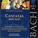 Sacred Cantatas Bwv 54-57