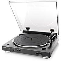 DENON アナログレコードプレーヤー USB録音機能/フルオート ブラック DP-200USB-K