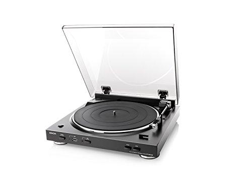 Denon アナログレコードプレーヤー フォノイコライザー付 フルオート カートリッジ付属 ブラック DP-200USBK
