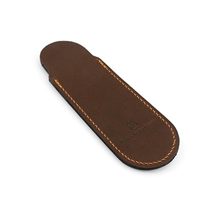 受賞鍔作曲家Max Capdebarthes Pocket knife sheath, 13 cm, Choco