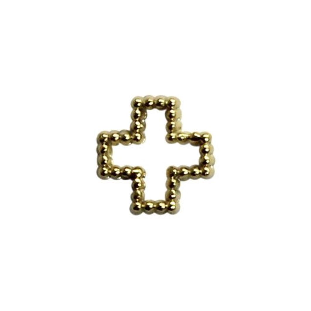 エレメンタル逆に残基プリティーネイル ネイルアートパーツ ブリオンクロスS ゴールド 15個