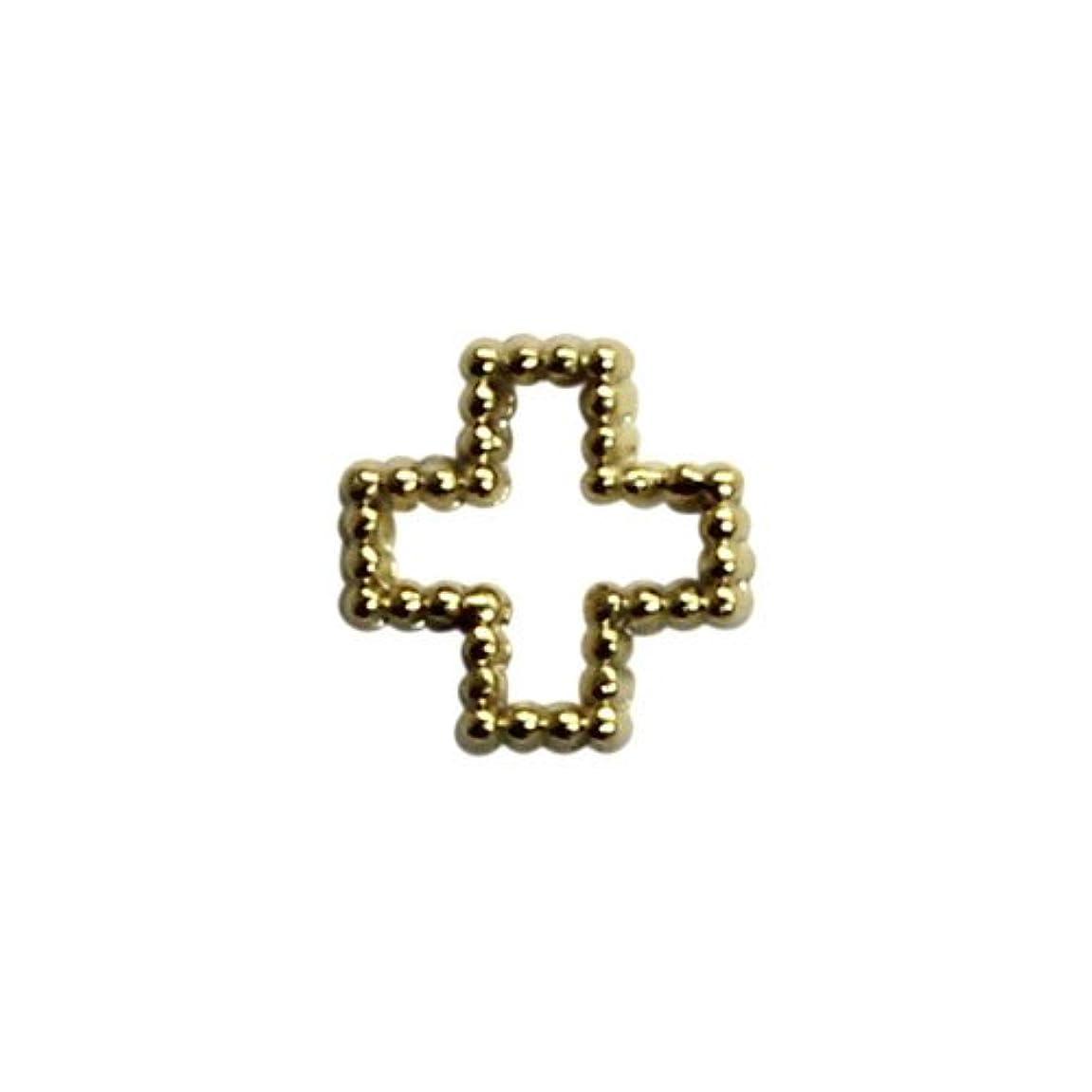 エイリアン個人的なスマッシュプリティーネイル ネイルアートパーツ ブリオンクロスS ゴールド 15個