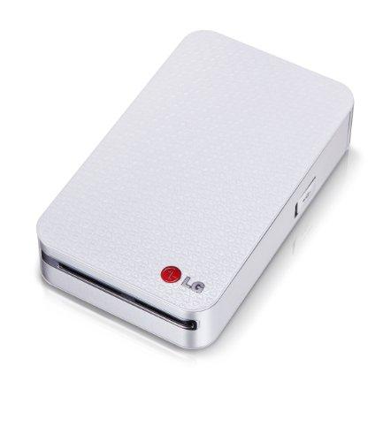 LG モバイルプリンター Pocket Photo ホワイト&シルバー PD233 スマートフォン連動
