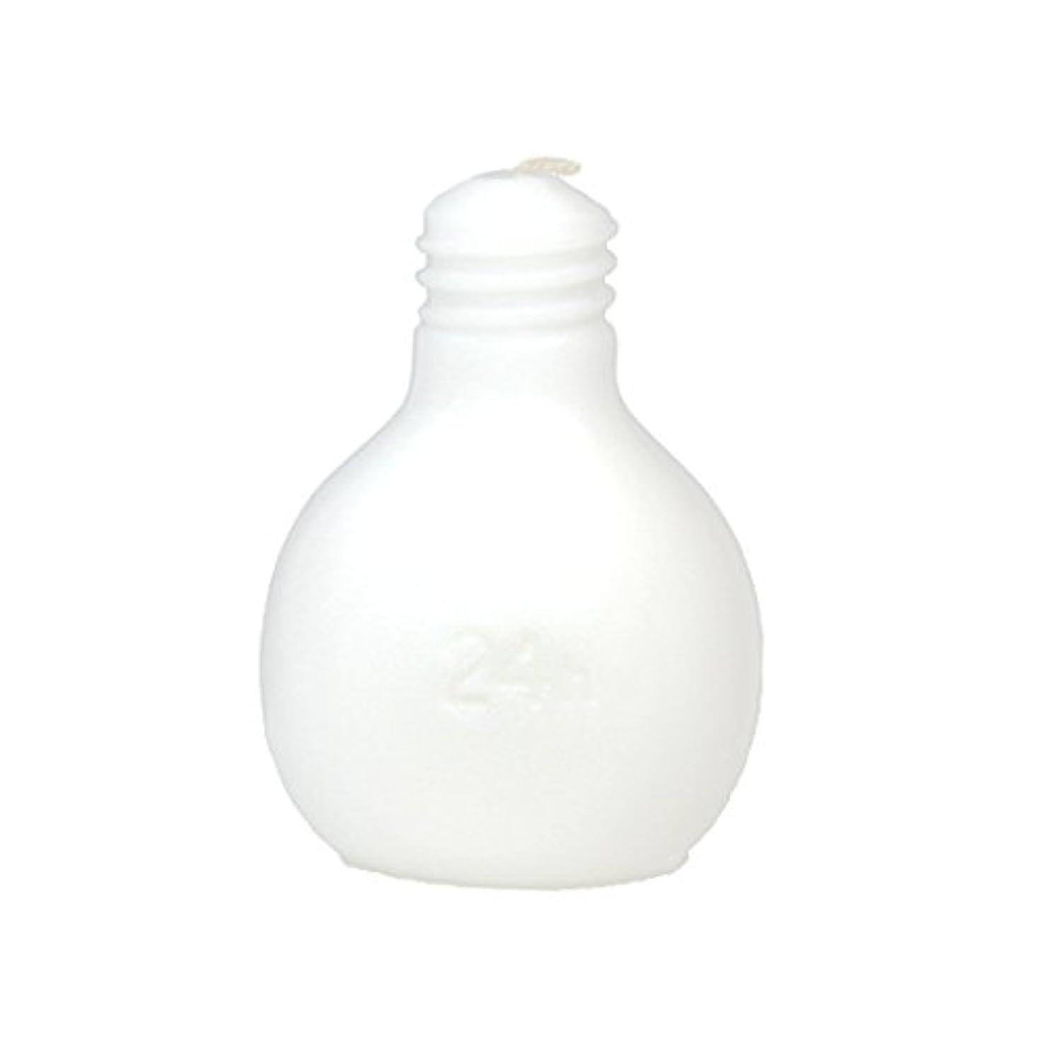 エレガント買うあたたかいカメヤマキャンドルハウス 節電球キャンドル  ホワイト