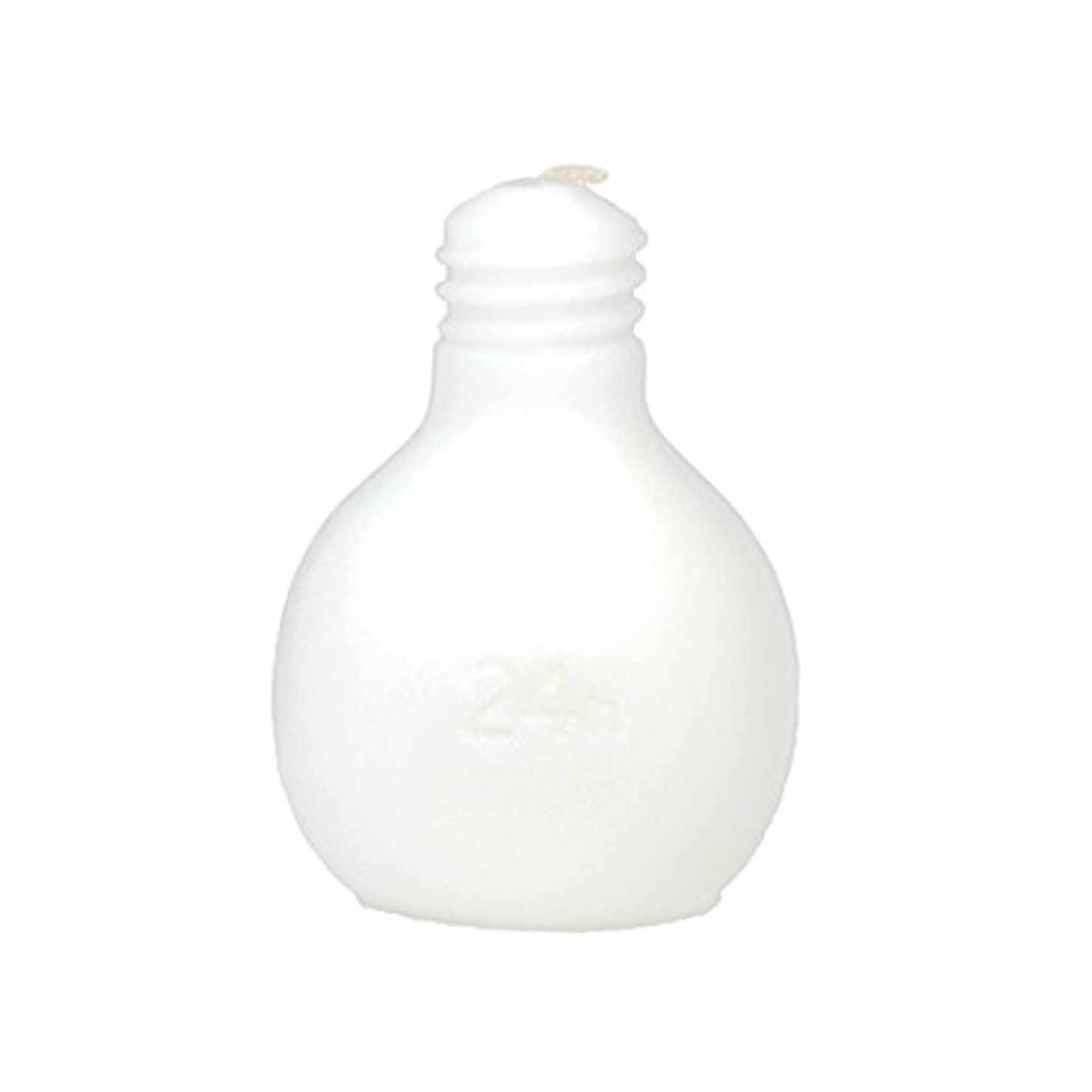 不規則な伝統アトミックカメヤマキャンドルハウス 節電球キャンドル  ホワイト