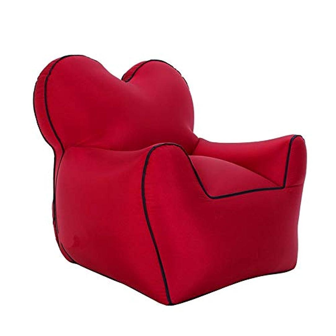 不正直自明わずかな膨脹可能なソファー屋外の携帯用単一の膨脹可能なベッド湿気証拠の床のマット水膨脹可能な怠惰なソファーベッド,Red,S