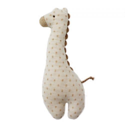 赤ちゃんのおもちゃとしてお勧め!オーガニックコットン キリンガラガラ