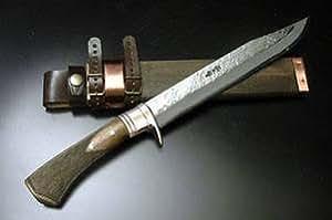 フロンティア剣鉈テェッカー 150 青鋼 両刃 真鍮ツバ frokenao-001-9