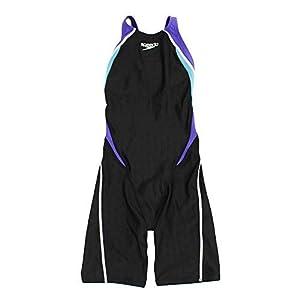 Speedo(スピード) 競泳水着 女の子 オープンバック ニースキン ジュニア フレックスシグマ 2 FINA 承認モデル 150 VS(ヴァイオレット×スキューバ) SD38H08