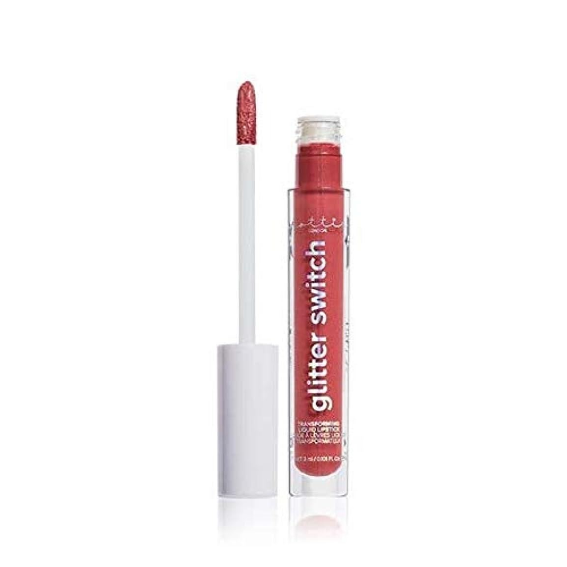 鍔マスタード長方形[Lottie London] Lottieロンドングリッタースイッチは、口紅ハイローラーを変換します - Lottie London Glitter Switch Transform Lipstick High Roller...