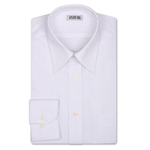 (アトリエサンロクゴ) atelier365 ワイシャツ 高品質な形態安定加工ワイシャツ 長袖/kr-m-white-86-41 [ウェア&シューズ]