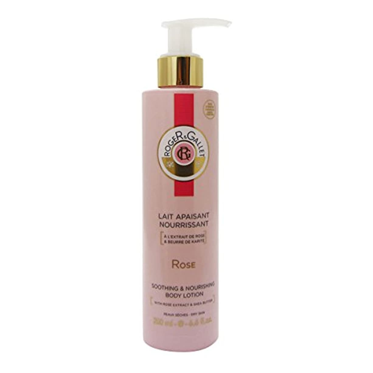 結晶パラシュート出来事Roger Gallet Rose Soothing And Nourishing Body Lotion 200ml [並行輸入品]