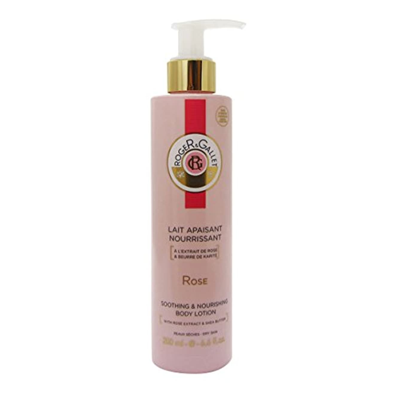 トレードねじれ頭痛Roger Gallet Rose Soothing And Nourishing Body Lotion 200ml [並行輸入品]
