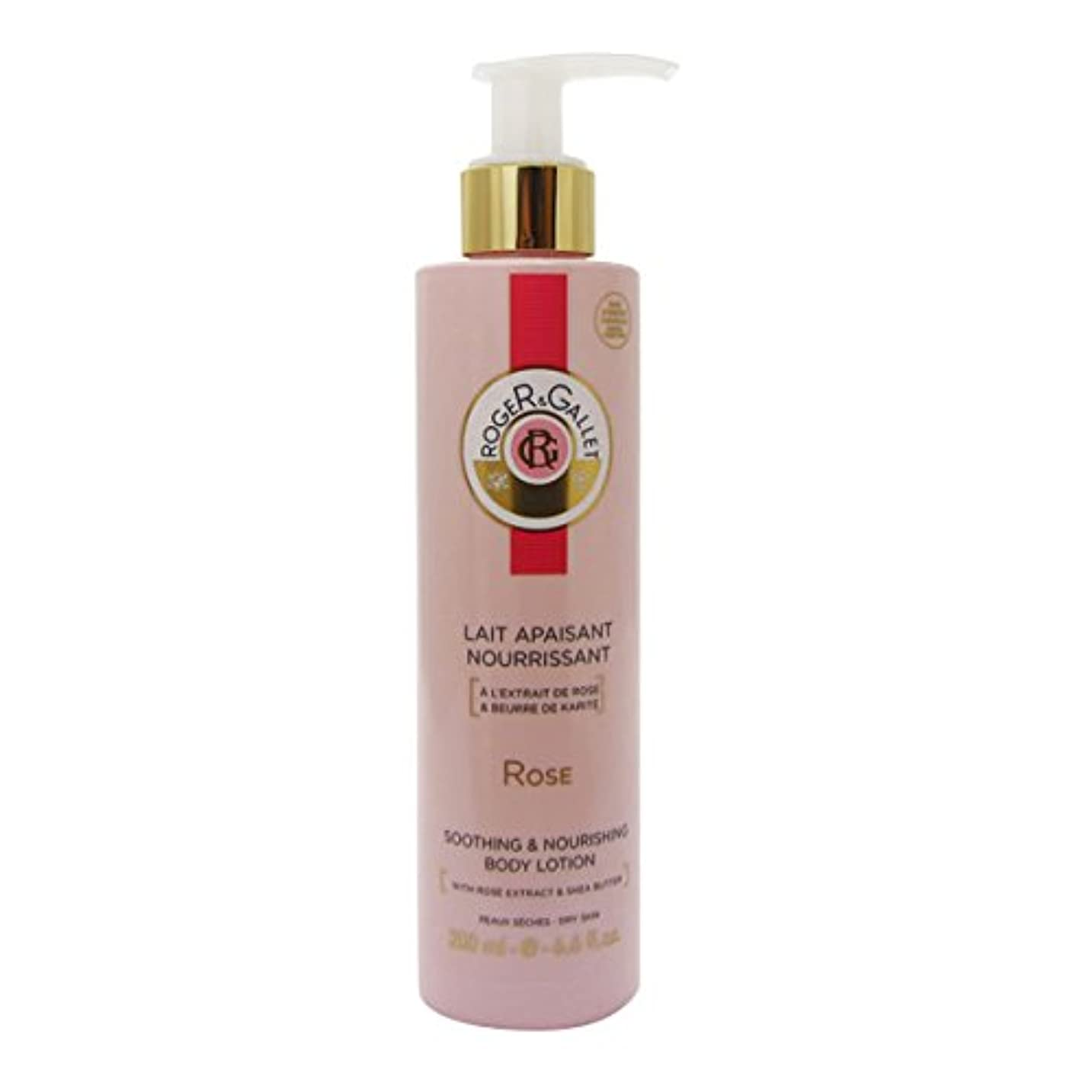 ジャケット苦情文句トラフRoger Gallet Rose Soothing And Nourishing Body Lotion 200ml [並行輸入品]
