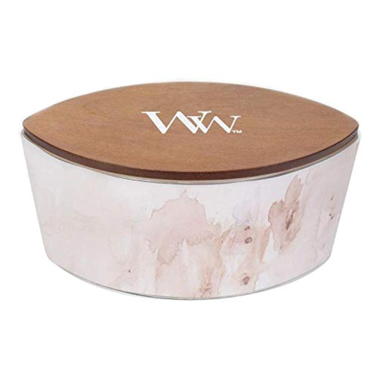 台無しに聴覚申請中バニラSolアーティザンコレクション楕円WoodWick香りつきJar Candle