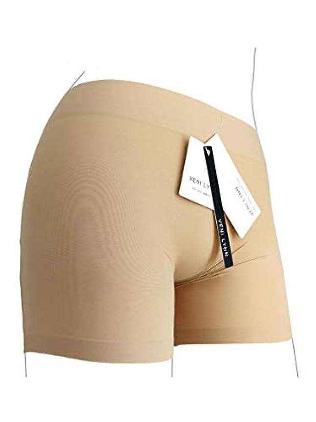 接続された憂鬱な教育する女性バットリフターShapewearシームレスパンティーボディシェイプボイスショートパンツ (Large)