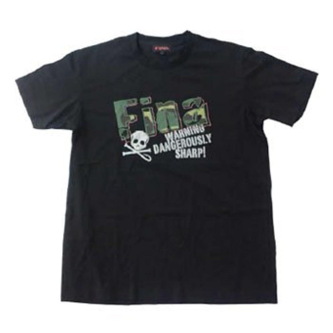 モバイル冗談で鷲ハヤブサ(Hayabusa) Tシャツ FINA ロゴバッチ LL ブラック YT505F-LL-90