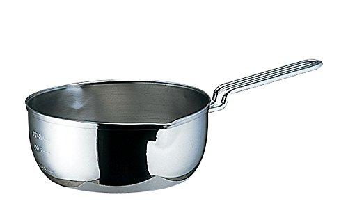 遠藤商事 共柄三層鋼 雪平鍋 目盛付 18cm AYK52018
