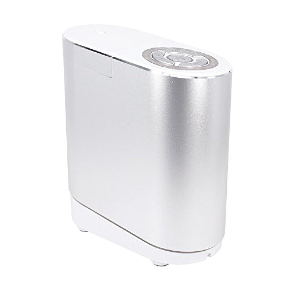 夜明けにペフ伝えるLNSTUDIO アロマディフューザー ネブライザー式 2個30ML専用精油瓶付き アロマ芳香器 タイマー機能付 ミスト量調整可
