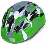 サイクリング自転車用ヘルメット 子供用ヘルメット、乗馬用スケートスクーターヘルメット、外出するティーンエイジャーのための優れた機器 スポーツ用保護ヘルメット (色 : Green)