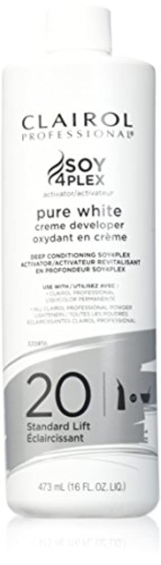 血色の良い他の場所従来のCLAIROL PURE WHITE 20 CREME DEVELOPER STANDARD LIFT 470 ml