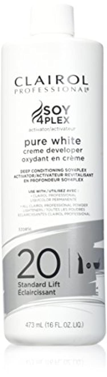変動するセクタミュートCLAIROL PURE WHITE 20 CREME DEVELOPER STANDARD LIFT 470 ml