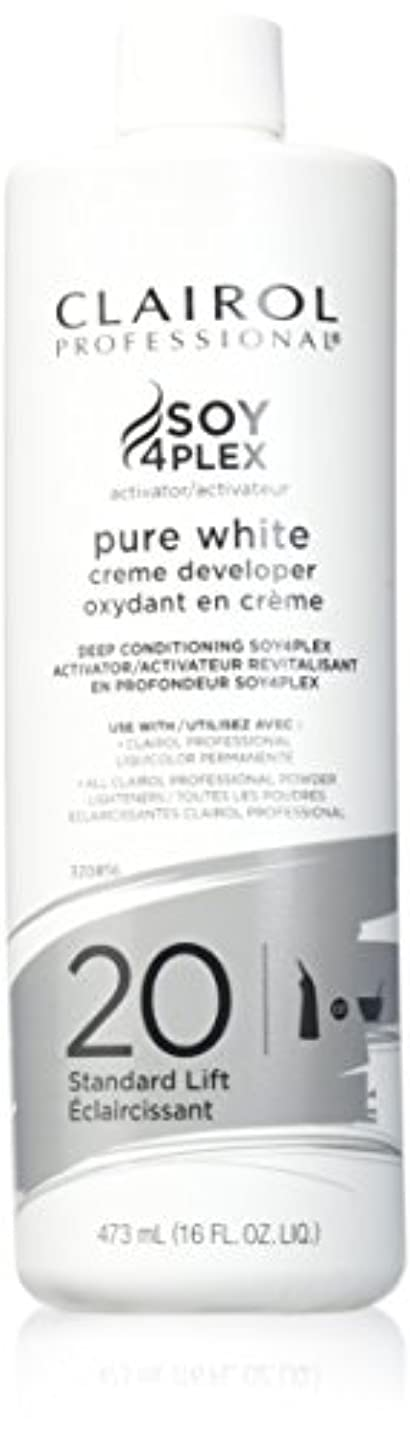 調子間接的文房具CLAIROL PURE WHITE 20 CREME DEVELOPER STANDARD LIFT 470 ml
