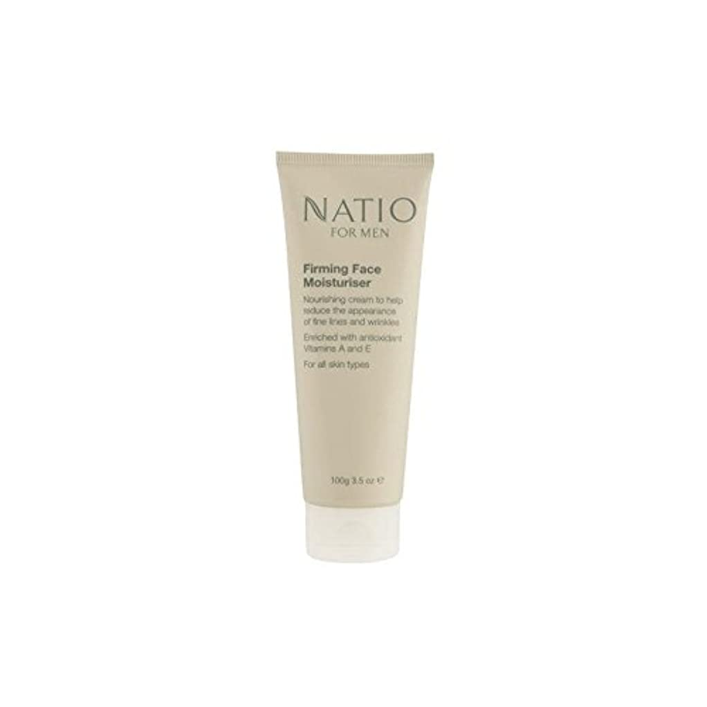 自分自身誰のきらめき顔の保湿剤を引き締め男性のための(100グラム) x4 - Natio For Men Firming Face Moisturiser (100G) (Pack of 4) [並行輸入品]