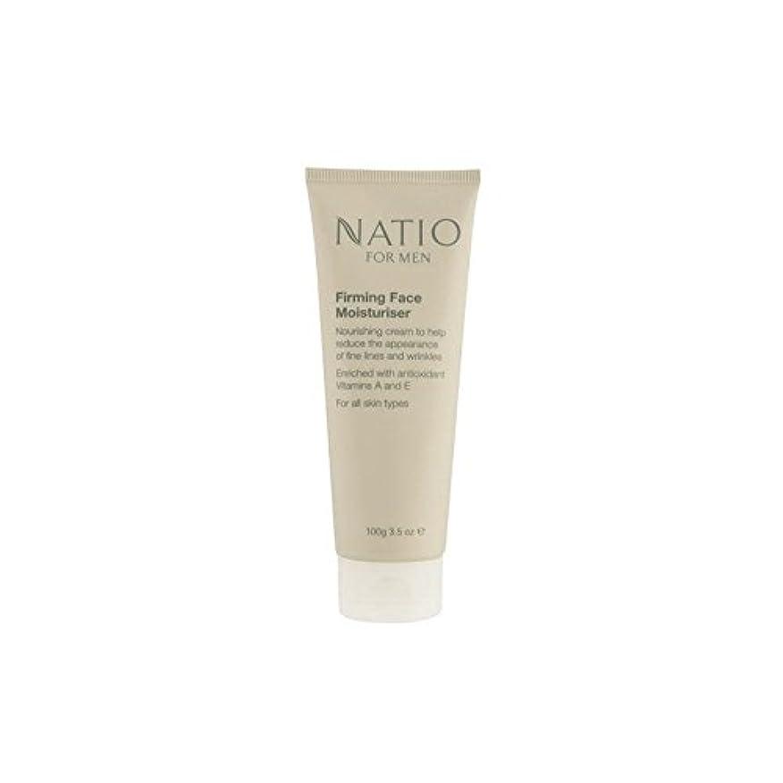 もの光最適顔の保湿剤を引き締め男性のための(100グラム) x4 - Natio For Men Firming Face Moisturiser (100G) (Pack of 4) [並行輸入品]