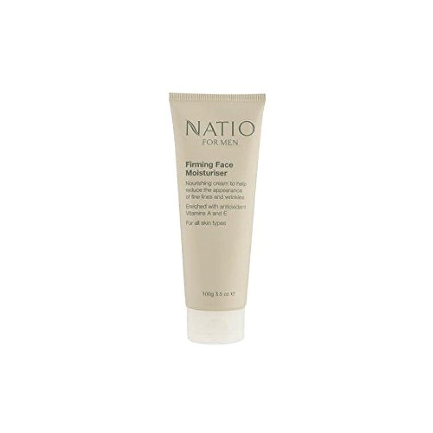 過去有害な肘顔の保湿剤を引き締め男性のための(100グラム) x4 - Natio For Men Firming Face Moisturiser (100G) (Pack of 4) [並行輸入品]