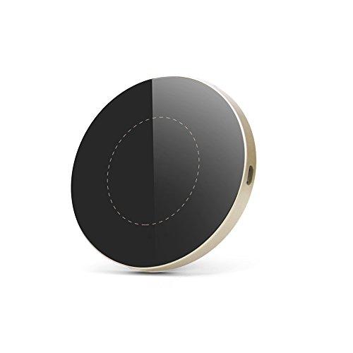 Ewin Qi ワイヤレス充電器 ワイヤレスチャージャー 置くだけ充電 iPhone X / 8 / 8 Plus / Galaxy S8 / S8 Plus /S7 / S7 Edge / S6 / S6 Edge / Note 8 / Note 5 / Nexus 5 / 6 対応 他のQi対応機種 qi 充電器 (G3丸形, ゴールド)