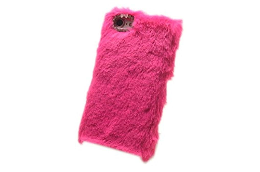 無グレード治すiPhone XR アイフォン XR 用 かわいい もこもこ ファー ケース ピンク 手触り抜群 ふわふわ カバー JUNEオリジナル2点セット付き商品