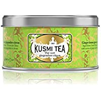 (KUSMI TEA) クスミティー ジンジャー レモン グリーンティー 25g缶 [正規輸入品]
