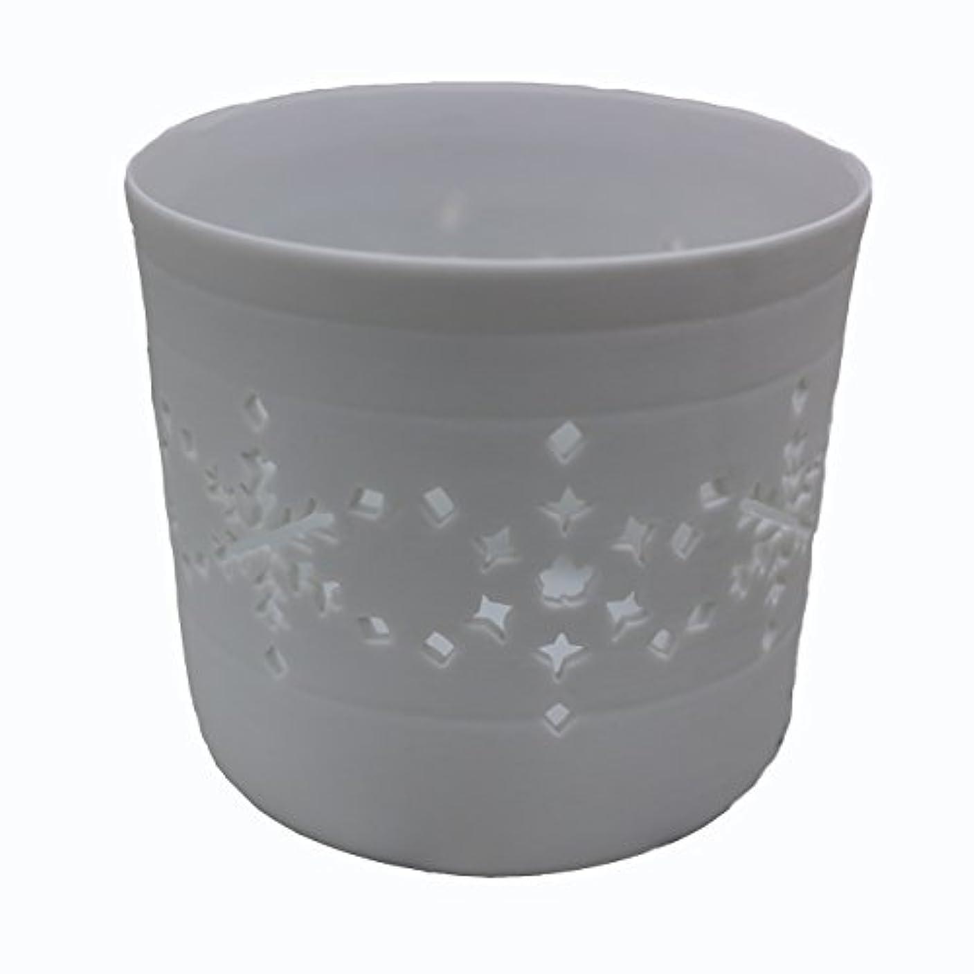 乳ランデブー公爵夫人キャンドルカップ(ティーライト付き) 結晶