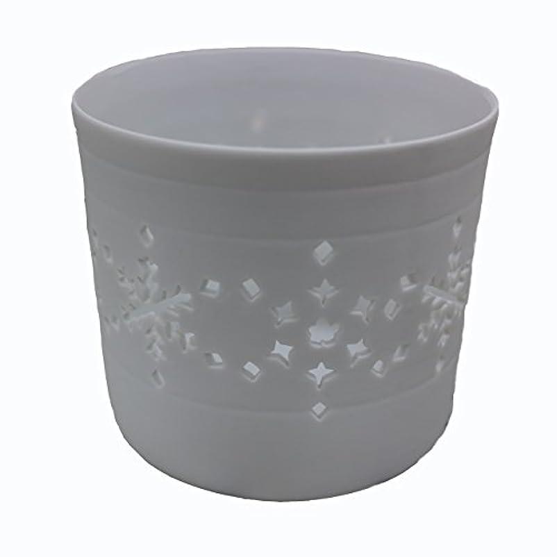 娘仕立て屋擁するキャンドルカップ(ティーライト付き) 結晶