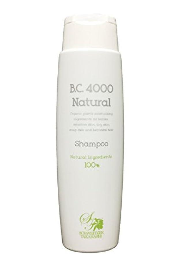 昼食細菌比喩B.C.4000 ナチュラル 100%天然由来 ノンシリコンシャンプー オーガニック 植物エキス配合 (250mL)