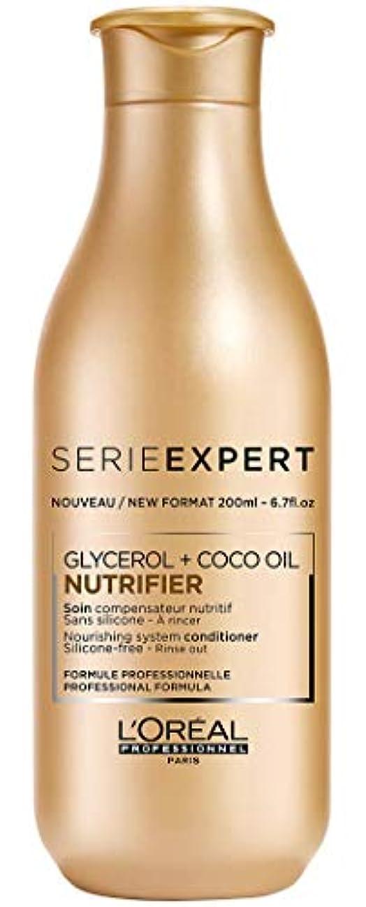 無礼に鼻合わせてロレアル Professionnel Serie Expert - Nutrifier Glycerol + Coco Oil Nourishing System Silicone-Free Conditioner -...