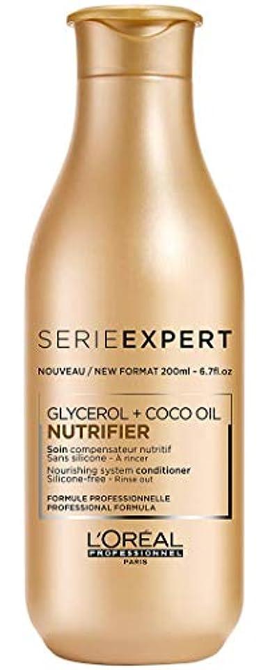 日没賠償ピストルロレアル Professionnel Serie Expert - Nutrifier Glycerol + Coco Oil Nourishing System Silicone-Free Conditioner -...