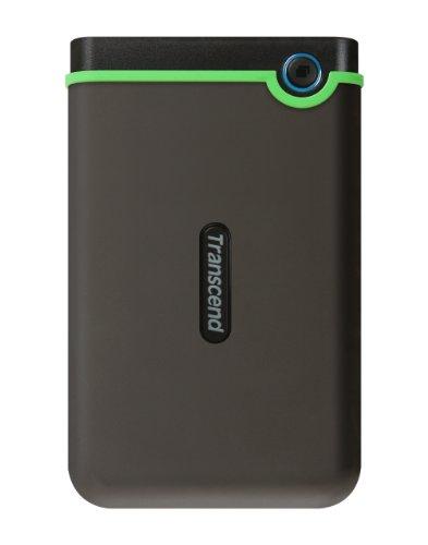 Transcend USB3.1 2.5インチ スリムポータブルHDD 耐衝撃 M3シリーズ アイロングレー 1TB 3年保証 TS1TSJ25M3S