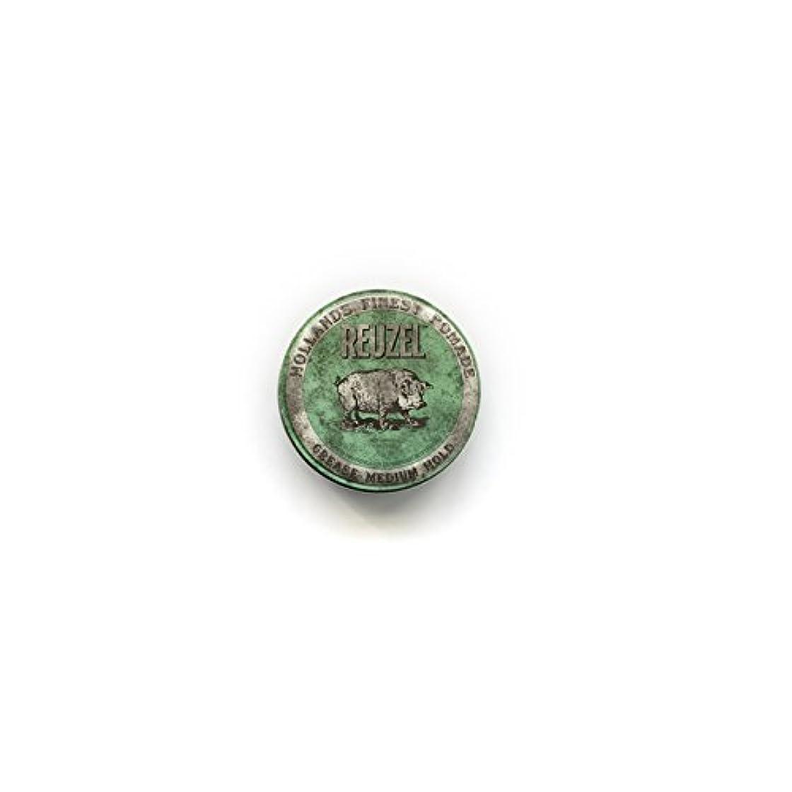 下品ボルトピーブREUZEL ルーゾーグリースポマード 1.3oz./35g 【緑】35g  <油性: ナチュラルホールド>