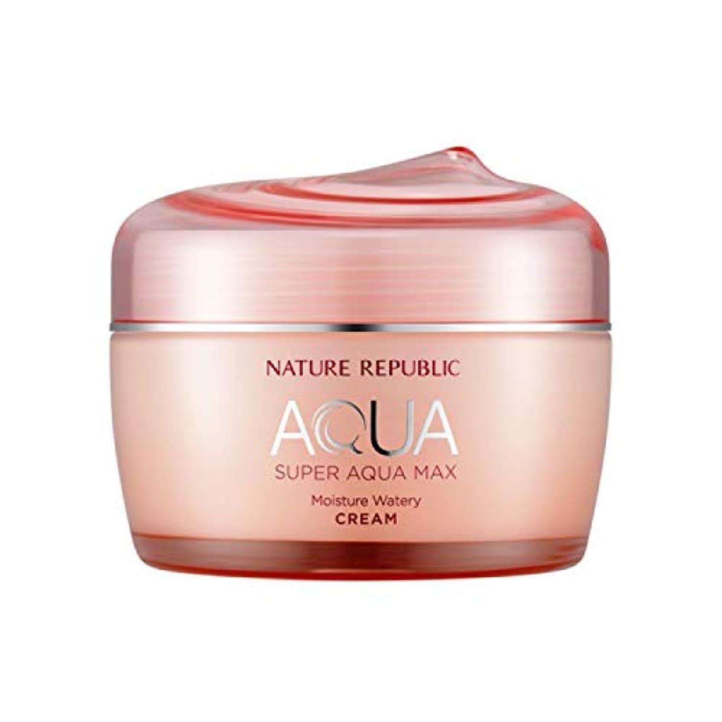 周辺拒否のぞき穴ネイチャーリパブリック(Nature Republic)スーパーアクアマックスモイスチャー水分クリーム[乾性用] 80ml / Super Aqua-Max Moisture Moisture Cream (Dry Skin...